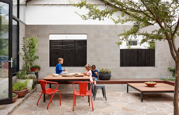 Contemporary Patio by Brickworks Building Products