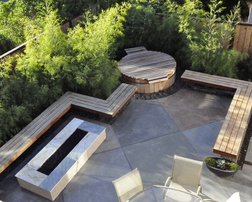 Trendy Patio Photo In San Luis Obispo With A Fire Pit