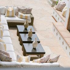 Mediterranean Patio by Jodi Fleming / Fleming Distinctive Homes