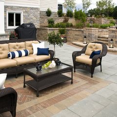 eclectic patio by Farinelli Construction Inc