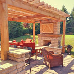 Outdoor Kitchen And Fireplace Mason Oh Traditional