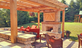 Farmhouse style outdoor living space