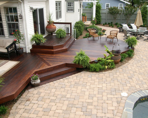 Deck Patio Transition Home Design Ideas Pictures Remodel
