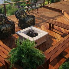 Traditional Patio by Fine Decks Inc