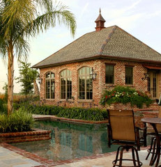 traditional patio by Ferris Land Design - Richard Hymel, ASLA