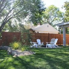 Traditional Patio Finding a Vintage Vibe with New Construction in Kelowna, BC