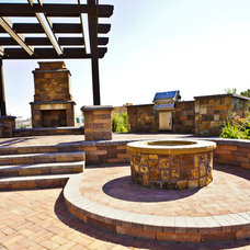 Contemporary Patio by Hiner Landscapes