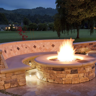 Patio - traditional patio idea in San Francisco with a fire pit