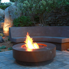 Traditional Fire Pits by Mark Concrete