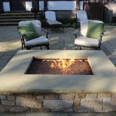 Transitional Patio by Exscape Designs