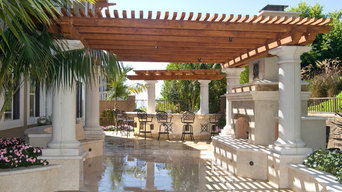 FIREPLACE AND BBQ'S AND MARBLE PATIO
