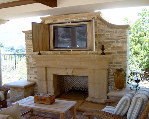 Browse 227 photos of Outdoor Fireplace Tv. Find ideas and inspiration for Outdoor Fireplace Tv to add to your own home.