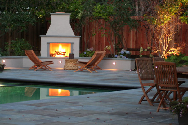 Traditional Patio by Terra Ferma Landscapes