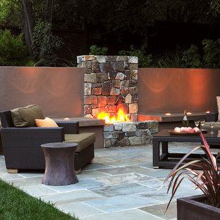 Outdoor Fireplace Wall Houzz