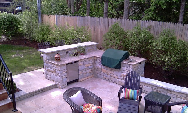 Traditional Patio by Great Oaks Landscaping Inc