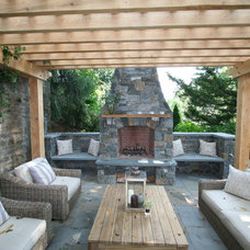 Traditional Patio by The Outerspaces Group