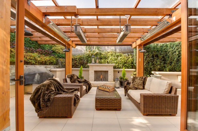 Transitional Patio by Andreatta Woodworking