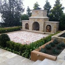 Mediterranean Patio by Mclaughlin Landscape Construction