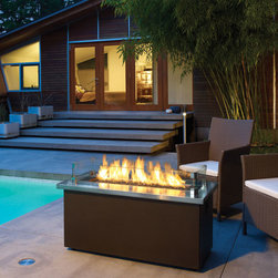 Fireside Outdoors - Fire Coffee Table, runs on natural or propane gas, includes casters for mobility, perfect for the sophisticated back yard.