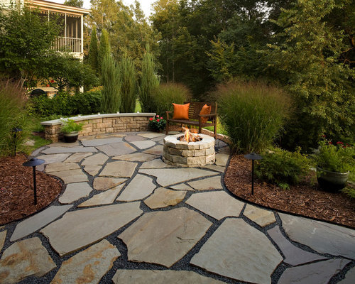 Irregular Flagstone Patio Home Design Ideas Pictures