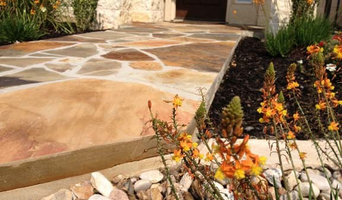 Flagstone sidewalk/entry