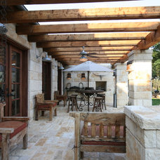 Rustic Patio by John Lively & Associates