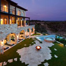 Mediterranean Landscape by Jenkins Custom Homes