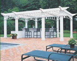 Formal Freestanding Pergola - An oasis in the garden, the bright, open pergola is an ideal gathering spot for any social occasion.