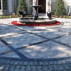 Traditional Patio by Booths Cobblestones
