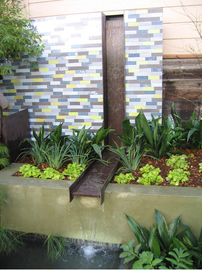 Gardens tap into rill water features for Garden pond design books