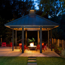 Transitional Patio by Simpson Design Group Architects
