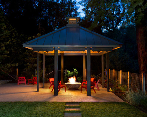 Covered Fire Pit Ideas Pictures Remodel And Decor