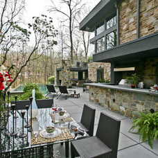Contemporary Patio by Jeanine Turner