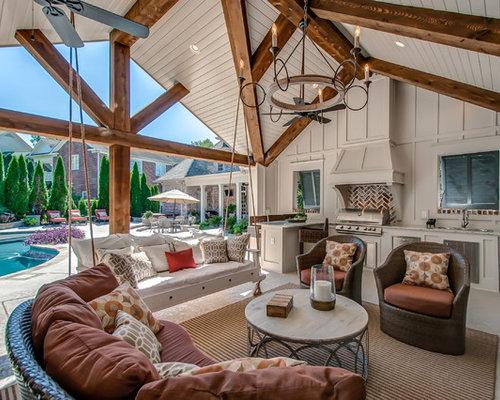 Ideas para patios dise os de patios de estilo de casa de - Losas para exterior ...