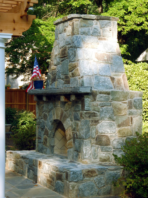 SaveEmail - Freestanding Outdoor Fireplace Design Ideas & Remodel Pictures Houzz