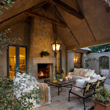 Mediterranean Patio by Giffin & Crane General Contractors, Inc.
