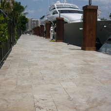 Contemporary Patio by Travertine Mart