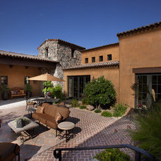 Mediterranean Patio by R.J. Gurley Custom Homes