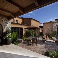 Mediterranean Patio by R.J. Gurley Construction