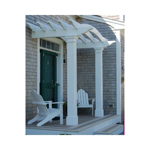 Inspiration for a timeless patio remodel in Boston - Front Entry Pergola Houzz