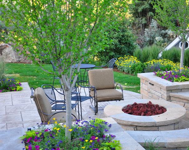 Traditional Patio by Designscapes Colorado Inc.