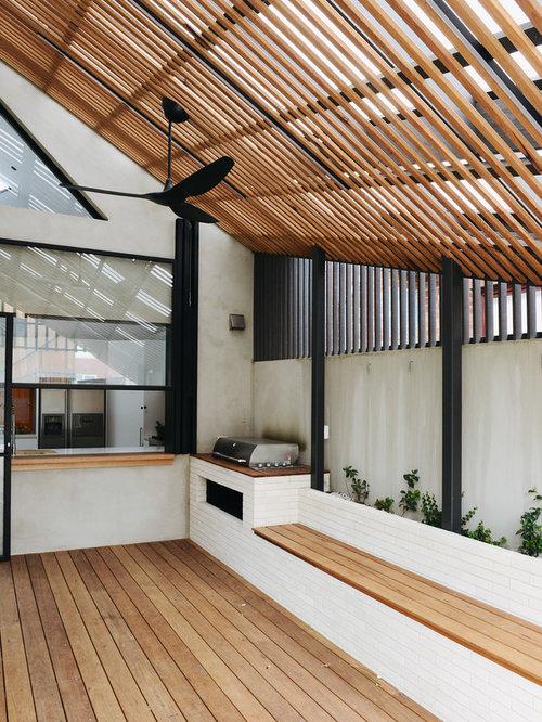 Photos et id es d co de terrasses scandinaves avec une - Extension de terrasse ...