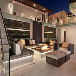 Inspiration for a contemporary patio vertical garden remodel in Orange County