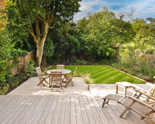 This Is An Example Of A Contemporary Back Patio In London