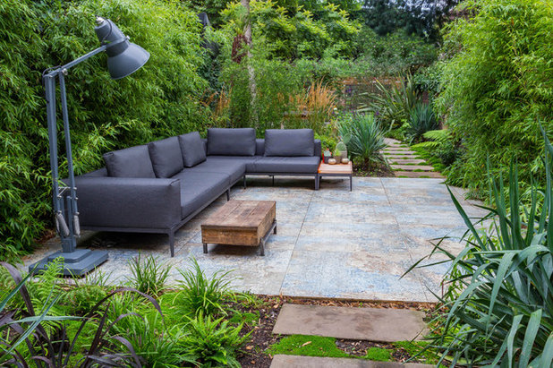 Contemporary Patio by Barbara Samitier Gardens