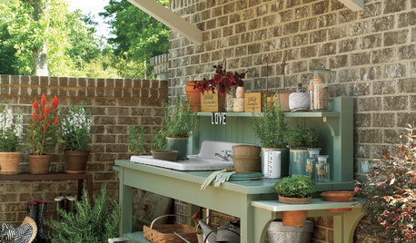 19 Gorgeous Potting Benches to Inspire Your Garden Plans