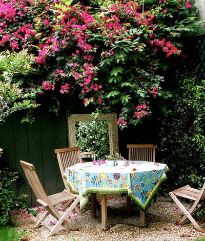 Shabby-Chic Style Patio by Lisa Borgnes Giramonti