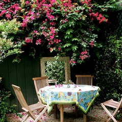 eclectic patio by Lisa Borgnes Giramonti
