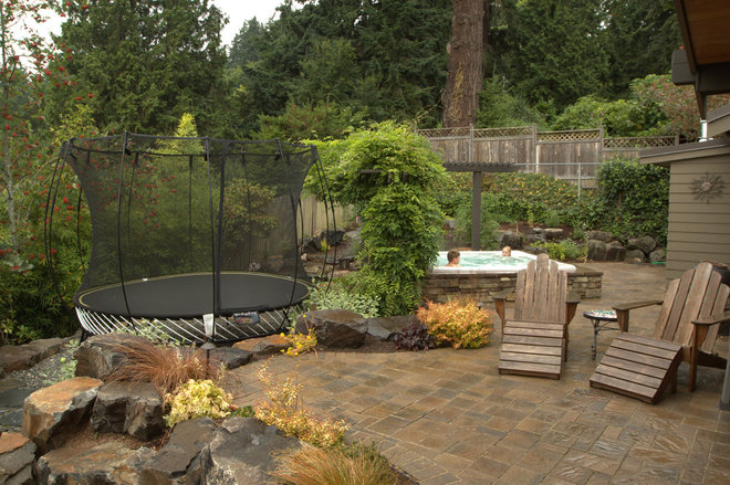 Landscaping hot tub for Hot tub landscape design