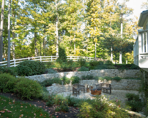 Two Tiered Backyard | Houzz on Tiered Yard Ideas id=27720